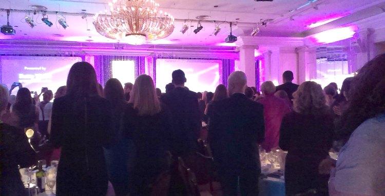Betty Webb standing ovation