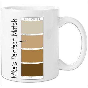 personalised colour chart mug