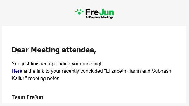 FreJun email alert screenshot