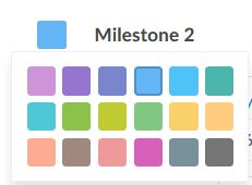 colour flags for milestones