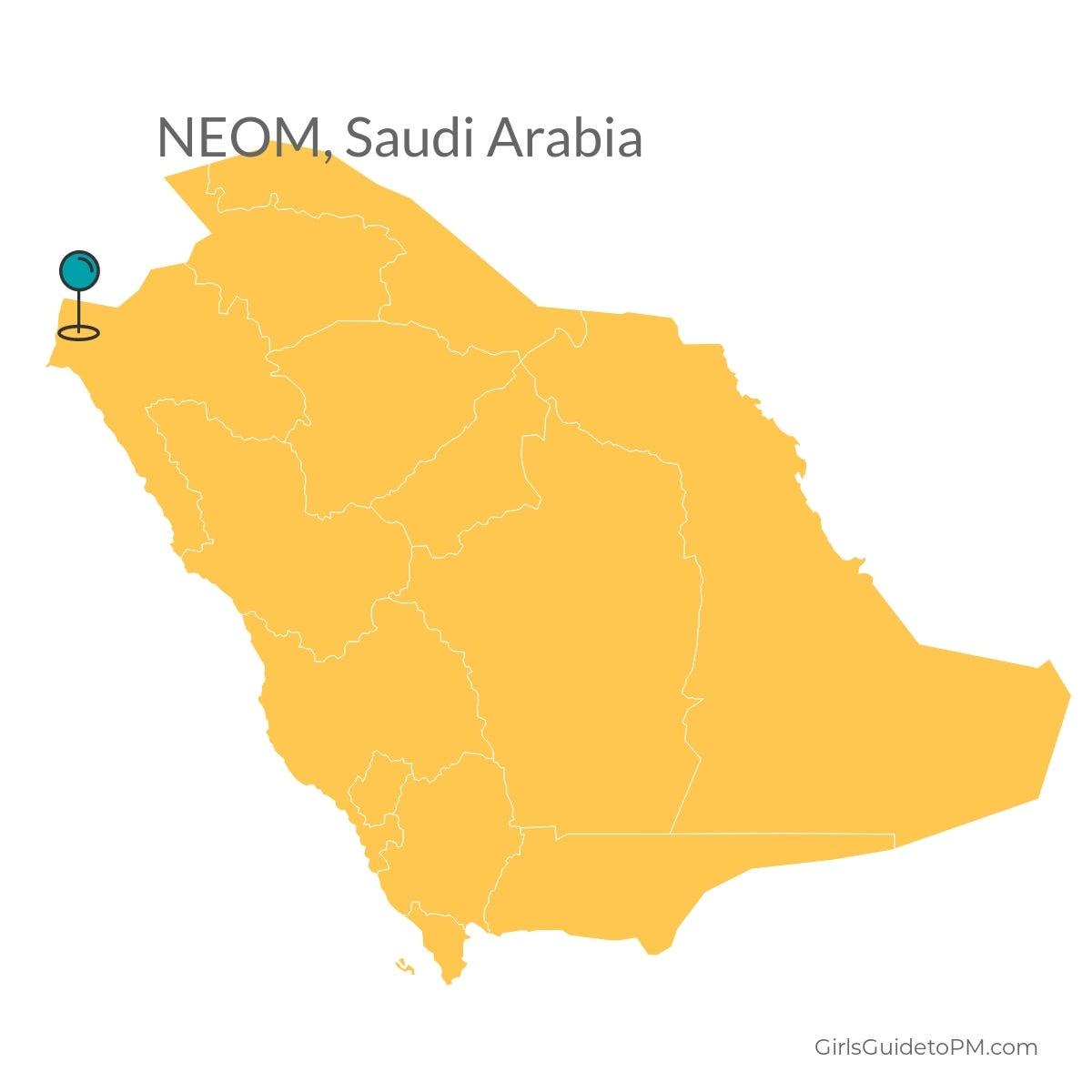 NEOM Saudi Arabia map