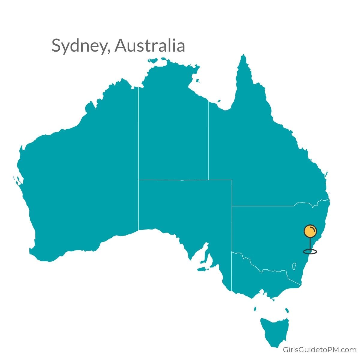 Sydney Australia map