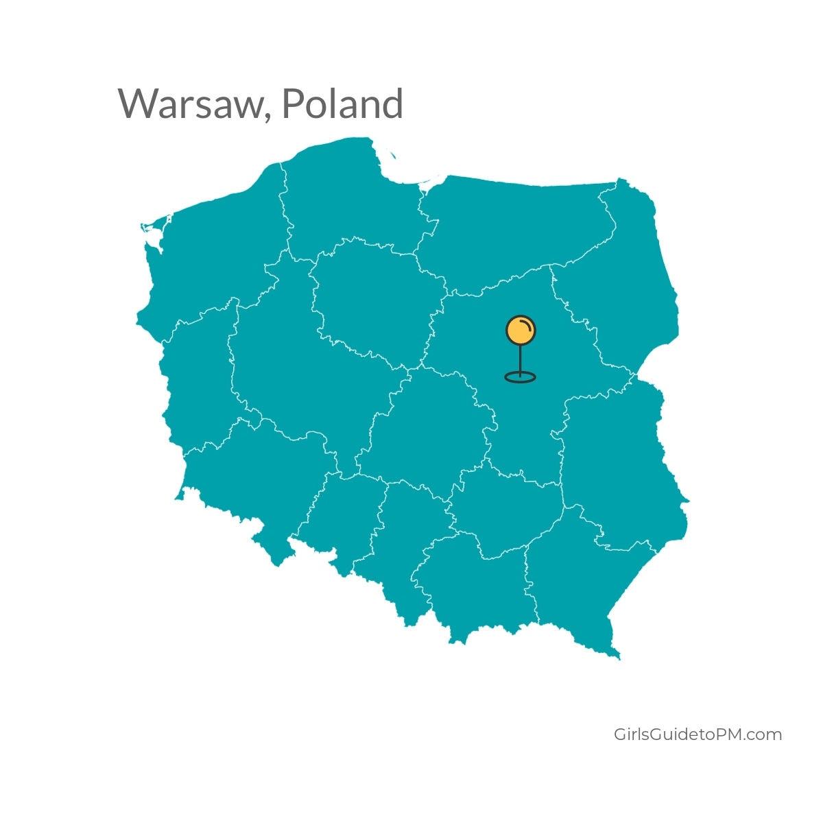 Warsaw Poland map