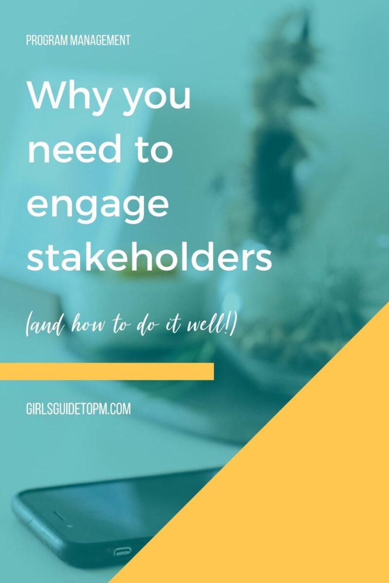 engage stakeholders