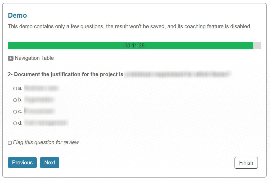 PRINCE2 foundation mock exam question