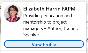 Click to edit LinkedIn profile
